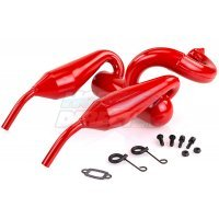 Rovan 5IVE-T Red Twin Piped Tuned Exhaust Set