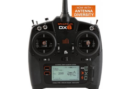 SPM6750 | Spektrum DX6 2.4Ghz 6ch Mode 2 Radio w/ Receiver
