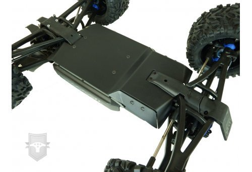 T-Bone Racing Black Traxxas E-Revo VXL 2.0 Chassis Skid Plate Set