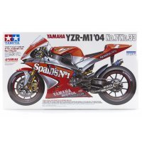Tamiya 1/12 Yamaha YZR-M1 04 No.7/No.33 Motorcycle Plastic Model Kit