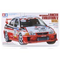 Tamiya 1/24 Mitsubishi Lancer Evolution V WRC Scaled Plastic Model Kit