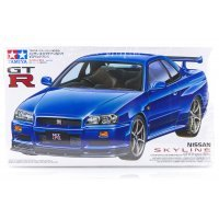 Tamiya 1/24 Nissan Skyline R34 GT-R Scaled Plastic Model Kit