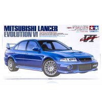 Tamiya 1/24 Mitsubishi Lancer Evolution VI Scaled Plastic Model Kit