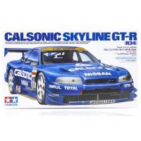 Tamiya 1/24 Nissan Skyline R34 GT-R Calsonic Scaled Plastic Model Kit