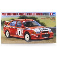 Tamiya 1/24 Mitsubishi Lancer Evolution VI WRC Scaled Plastic Model Kit