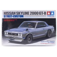 Tamiya 1/24 Nissan Skyline 2000 GT-R Street-Custom Scaled Plastic Model Kit