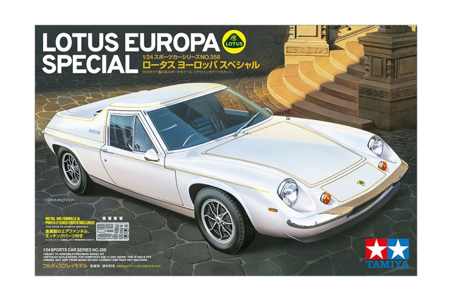 Tamiya 1/24 Lotus Europa Special Scaled Plastic Model Kit