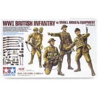 Tamiya 1/35 British WW1 Infantry w/Small Arms Set Scaled Plastic Model Kit