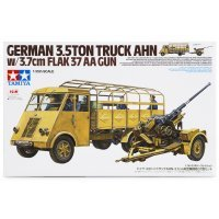 Tamiya 1/35 German 3.5 Ton Truck w/ 3.7cm Flack AA Gun Scaled Plastic Model Kit
