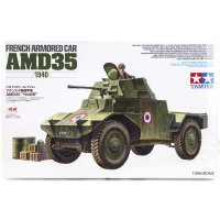 Tamiya 1/35 French AMD35 Armored Car Scaled Plastic Model Kit