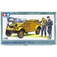 Tamiya 1/48 German Kubelwagen Type82 (Pkw.K1) Scaled Plastic Model Kit