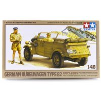 Tamiya 1/48 German Kubelwagen Type 82 Africa-Corps Scaled Plastic Model Kit