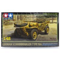 Tamiya 1/48 German Schwimmwagen Type 166 (Pkw.K2s) Scaled Plastic Model Kit