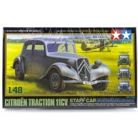 Tamiya 1/48 French/German Citroen Traction 11CV Staff Car Scaled Plastic Model Kit