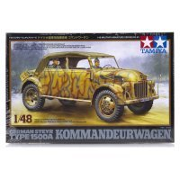 Tamiya 1/48 German Steyr Type 1500A Kommandeurwagen Staff Car Scaled Plastic Model Kit