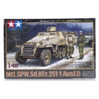 Tamiya 1/48 German Mtl.SPW.Sd.Kfz.251/1 Ausf.D Half-Track Scaled Plastic Model Kit