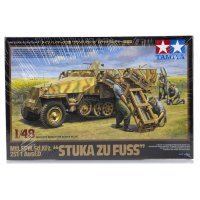 Tamiya 1/48 German Stuka Zu Fuss Ausf.D Half-Track (Mtl.SPW.Sd.Kfz) Scaled Plastic Model Kit
