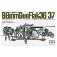 Tamiya 1/35 German 88mm Flak36/37 Scaled Plastic Model Kit