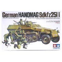Tamiya 1/35 German Hanomag Half-Track (Sdkfz251/1) Scaled Plastic Model Kit