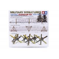 Tamiya 1/35 Barricade Set Scaled Plastic Model Kit