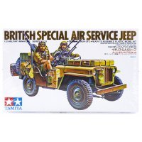 Tamiya 1/35 British Special Air Service Jeep Truck Scaled Plastic Model Kit
