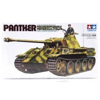 Tamiya 1/35 German Panzerkampfwagen V (Sk.Kfz. 171) Ausf.A Panther Tank Scaled Plastic Model Kit