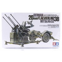 Tamiya 1/35 German 20mm MIT Sd. Ah. 52 Flakvierling 38 Scaled Plastic Model Kit
