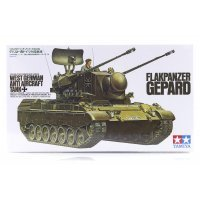 Tamiya 1/35 German (West) Anti-Aircraft Flakpanzer Gepard Tank Scaled Plastic Model Kit