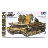 Tamiya 1/35 German Flakpanzer IV Modelwagen Self-Propelled Anti-Aircraft Gun Scaled Plastic Model Kit