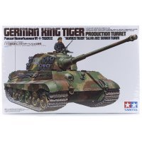 Tamiya 1/35 German King Tiger II Production Turret Sd.Kfz.182) Tank Scaled Plastic Model Kit