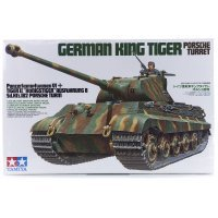 Tamiya 1/35 German King Tiger Ausf.B (Porsche Turret) (Sd.Kfz.182) Tank Scaled Plastic Model Kit