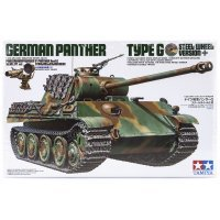 Tamiya 1/35 German Panzerkampfwagen (Sk.Kfz. 171) Ausf.G Panther Tank Scaled Plastic Model Kit