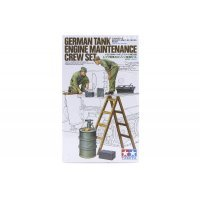 Tamiya 1/35 German Tank Engine Maintenance Crew Set Scaled Plastic Model Kit