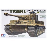 Tamiya 1/35 German Panzerkampfwagen Tiger I (Sd.Kfz.181) Tank Scaled Plastic Model Kit