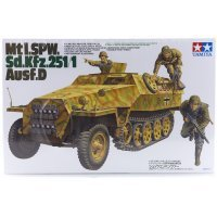 Tamiya 1/35 German Mti.SPW. Ausf.D Half-Track (Sd.Kfz.251/1)Scaled Plastic Model Kit
