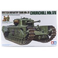 Tamiya 1/35 British Churchill (Mk.VII) Infantry Tank Scaled Plastic Model Kit