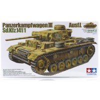 Tamiya 1/35 German Panzerkampfwagen III Ausf.L Tank (Sd.Kfz.141/1) Scaled Plastic Model Kit