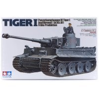 Tamiya 1/35 German Panzerkampfwagen VI Tiger 1 Ausfuhrung E (Sd.Kfz.181) Fruhe Produktion Tank Scaled Plastic Model Kit