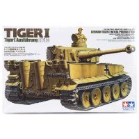 Tamiya 1/35 German Ausfuhrung Afrika Tiger 1 Initial Production Tank Scaled Plastic Model Kit