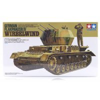 Tamiya 1/35 German Flakpanzer IV Wirbelwind Self-Propelled Anti-Aircraft Gun Scaled Plastic Model Kit