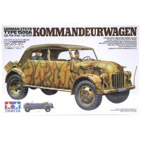 Tamiya 1/35 German Steyr Type 1500A Kommandeurwagen (s.gl.Pkw) Staff Car Scaled Plastic Model Kit