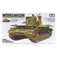 Tamiya 1/35 German Mobelwagen Auf Pz.Kpfw IV (SF) (Sd.Kfz 161/3) Self-Propelled AA Gun Scaled Plastic Model Kit