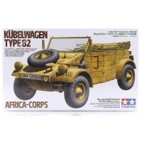 Tamiya 1/35 German Kubelwagen Type 82 Africa-Corps Truck Scaled Plastic Model Kit