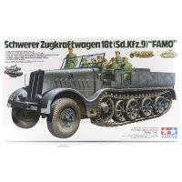 Tamiya 1/35 German Schwerer Zugkraftwagen 18 Ton Famo Half-Track (Sd.Kfz.9) Scaled Plastic Model Kit
