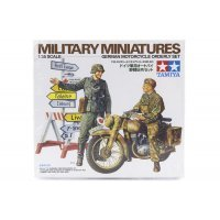 Tamiya 1/35 German Motorcycle Orderly Set Scaled Plastic Model Kit