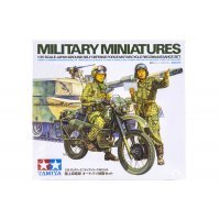 Tamiya 1/35 Japan Ground Self Defence Force Motorcycle Reconnaissance Set Scaled Plastic Model Kit