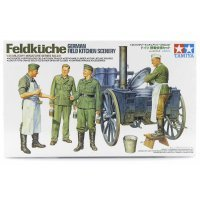Tamiya 1/35 German Feldkuche Field Kitchen Scenery Scaled Plastic Model Kit