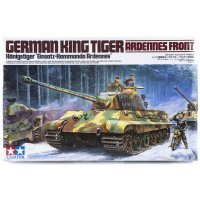 Tamiya 1/35 German King Tiger Tank (Ardennes Front) Scaled Plastic Model Kit