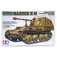 Tamiya 1/35 German Marder III M Ausf.M (Sd.Kfz.138) Tank Destroyer Scaled Plastic Model Kit