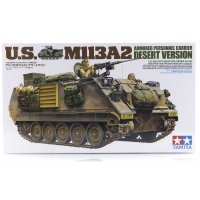 Tamiya 1/35 U.S. M113A2 Desert Version Armoured Personnel Carrier Scaled Plastic Model Kit